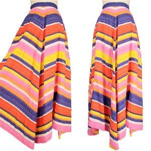 Vintage Fiesta Bold Stripe Chevron Maxi Skirt 40